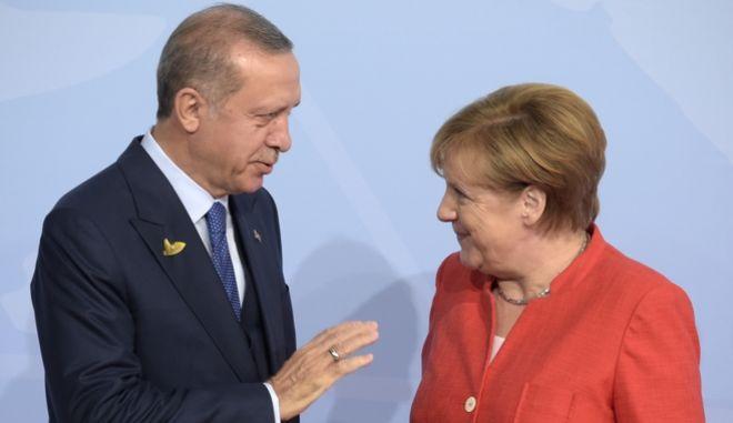 Συνάντηση Μέρκελ - Ερντογάν στο Αμβούργο