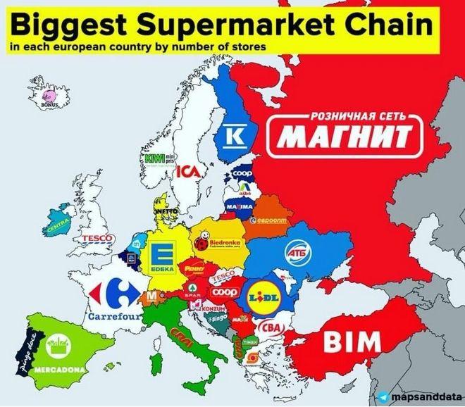 Αυτές είναι οι μεγαλύτερες αλυσίδες σούπερ μάρκετ στην Ευρώπη