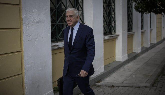 Ο Γιάννος Παπαντωνίου στα δικαστήρια για την απολογία του, που αφορά την κατηγορία του ξεπλύματος βρόμικου χρήματος, την Δευτέρα 22 Οκτωβρίου 2018