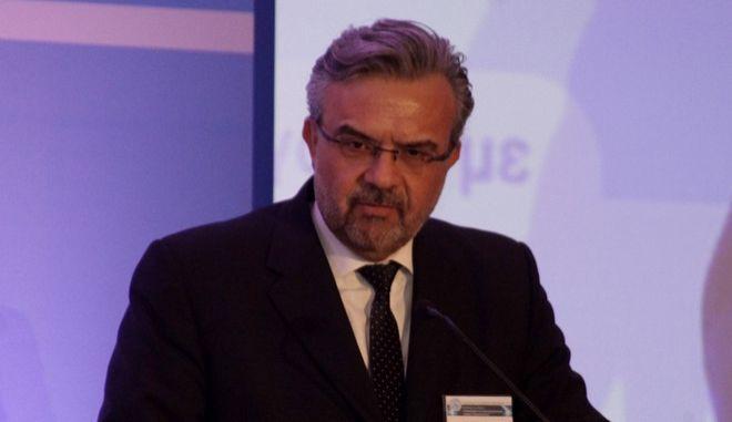 """Έναρξη του διήμερου Διεθνούς Συνεδριου μεε διοργανωτή τον Σύνδεσμο Ελλήνων Εξαγωγέων με θέμα: """"Η Εξωστρέφεια ως Στρατηγική Επιλογή: Όραμα και Πραγματικότητα"""", την Τρίτη 18 Μαρτίου 2014, στο ξενοδοχείο HILTON, υπό την αιγίδα των υπουργείων Εξωτερικών, Ανάπτυξης και Ανταγωνιστικότητας και του Δήμου Αθηναίων. Στο στιγμιότυπο ο διευθύνων σύμβουλος της Eurobank, Χρήστος Μεγαλου. (EUROKINISSI/ΓΙΩΡΓΟΣ ΚΟΝΤΑΡΙΝΗΣ)"""