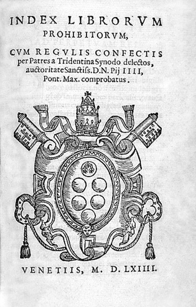 Ο κατάλογος των απαγορευμένων βιβλίων του Βατικανού