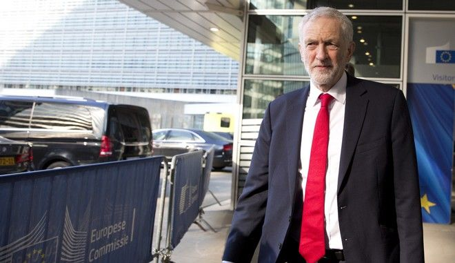 Ο ηγέτης των Εργατικών της Βρετανίας Τζέρεμι Κόρμπιν στις Βρυξέλλες