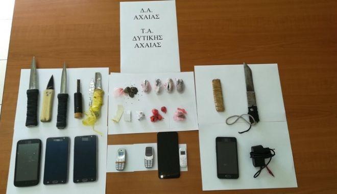 Αστυνομική επιχείρηση στις Φυλακές Αγίου Στεφάνου Πατρών: Κατασχέθηκαν ναρκωτικά, μαχαίρια και κινητά τηλέφωνα