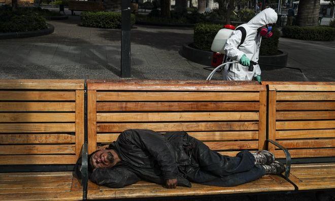 Άστεγος στη Χιλή