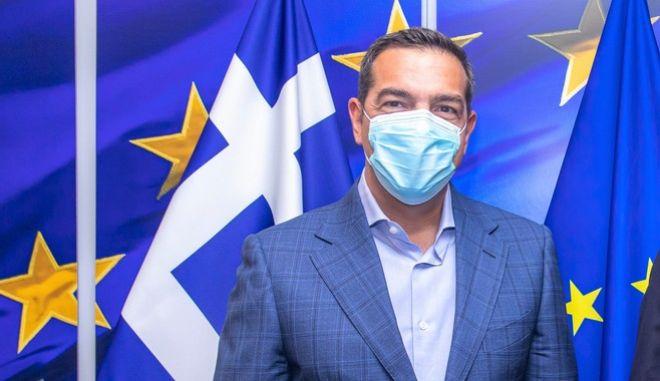 Ο Πρόεδρος του ΣΥΡΙΖΑ Προοδευτική Συμμαχία, Αλέξης Τσίπρας.