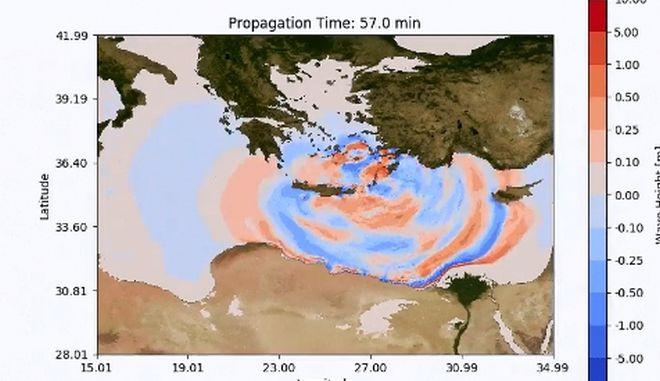 """Πώς θα είναι αν ένα τσουνάμι """"χτυπήσει"""" την Κρήτη;"""