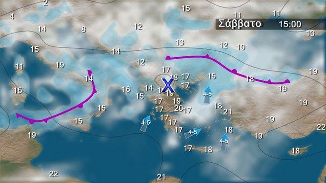 Εντείνονται οι βροχές στα βορειοδυτικά την Παρασκευή και το Σάββατο