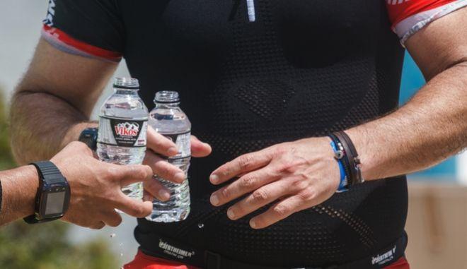 """Φυσικό Μεταλλικό Νερό """"Βίκος"""": Το επίσημο νερό του IRONMAN 70.3 Greece!"""