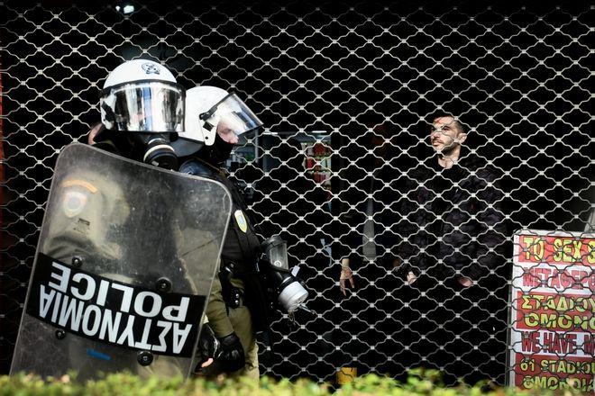 Μαθητικό συλλαλητήριο στην επέτειο των έντεκα χρόνων από την δολοφονία του Αλέξανδρου Γρηγορόπουλου, την Παρασκευή 6 Δεκεμβρίου 2019. Δυνάμεις της Αστυνομίας.