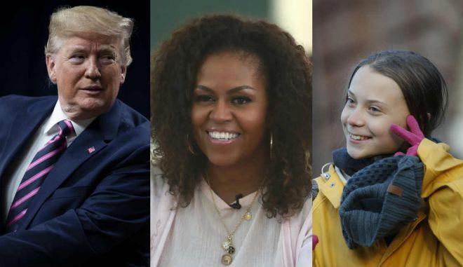 Trump, Michelle Obama, Greta