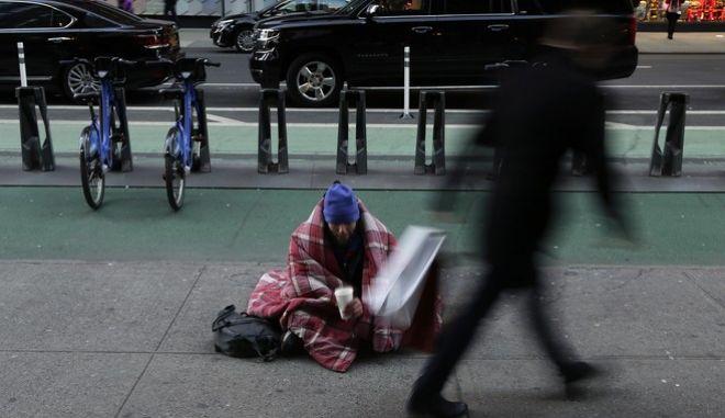 Άστεγος στην Νέα Υόρκη το 2016