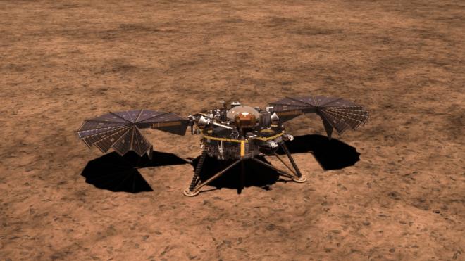 Το Insight στον Άρη με ανοιχτά τα ηλιακά πάνελ