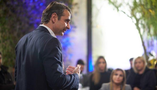 Στα πλαίσια της περιοδείας του Προέδρου της ΝΔ Κυριάκου Μητσοτάκη στην Χαλκίδα, συναντήθηκε με νέους ελεύθερους επαγγελματίες, Τρίτη 13/12/2018. (EUROKINISSI/ΓΡ. ΤΥΠΟΥ ΝΔ/ ΔΗΜΗΤΡΗΣ ΠΑΠΑΜΗΤΣΟΣ)