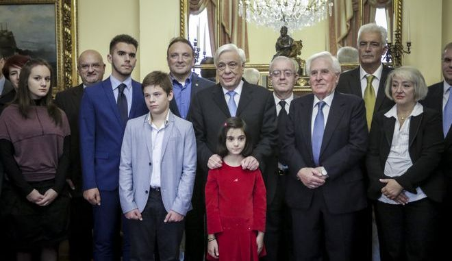 Συνάντηση του Προέδρου της Δημοκρατίας Προκόπη Παυλόπουλου με εκπροσώπους της Ανωτάτης Συνομοσπονδίας Πολυτέκνων Ελλάδος