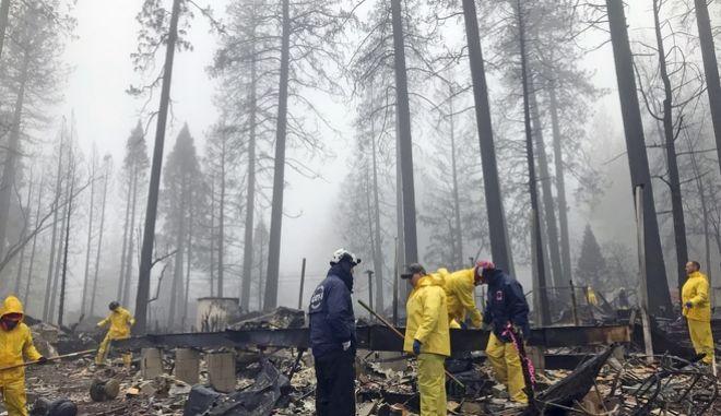 Δασική καταστροφή από την Camp Fire
