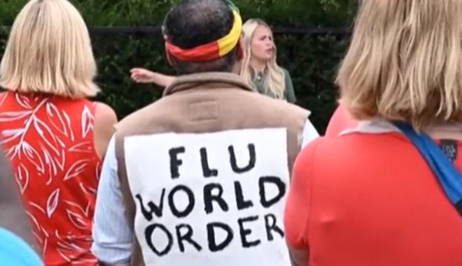 Διαδήλωση κατά της χρήσης μασκών στο Λονδίνο
