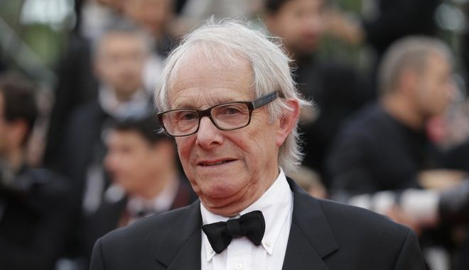 Director Ken Loach poses for photographers upon arrival at the awards ceremony at the 69th international film festival, Cannes, southern France, Sunday, May 22, 2016. (AP Photo/Lionel Cironneau)