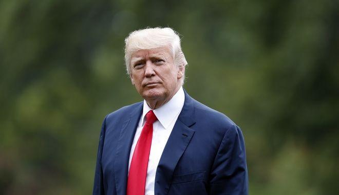 Ο Πρόεδρος των ΗΠΑ Ντόναλντ Τραμπ