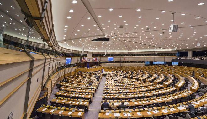 Στιγμιότυπο από το εσωτερικό του ευρωκοινοβουλίου στις Βρυξέλλες
