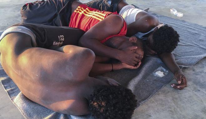 Μετανάστες από τη Λιβύη (φωτογραφία αρχείου)