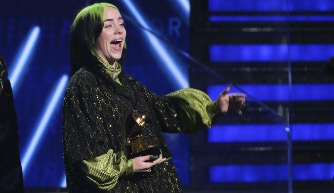 Η Μπιλι Άιλις στα Grammy Awards 2020