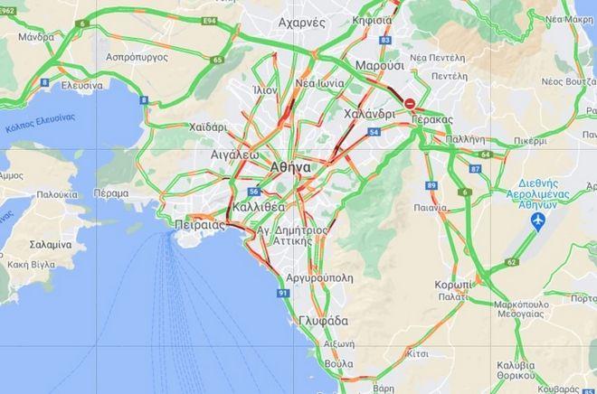 Κίνηση στους δρόμους: Ποιες περιοχές είναι στα