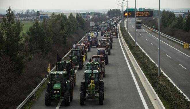 Αποκλεισμός των σηραγγών των Τεμπών από αγρότες του μπλόκου της Νίκαιας, Σάββατο 9 Φεβρουαρίου 2019.