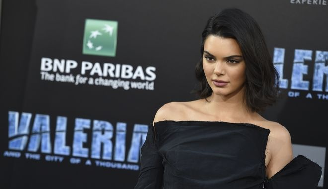 "Kendall Jenner arrives at the LA Premiere of ""Valerian and the City of a Thousand Planets"" at the TCL Chinese Theatre on Monday, July 17, 2017, in Los Angeles. (Photo by Jordan Strauss/Invision/AP)"