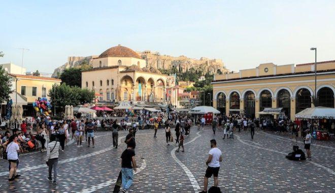 Το κέντρο της Αθήνας, 25 Ιουνίου 2021