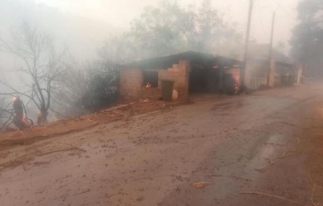 Φωτιά στην Εύβοια: Κάηκαν αυτοκίνητα και αγροικίες, δεν κινδύνευσαν άνθρωποι
