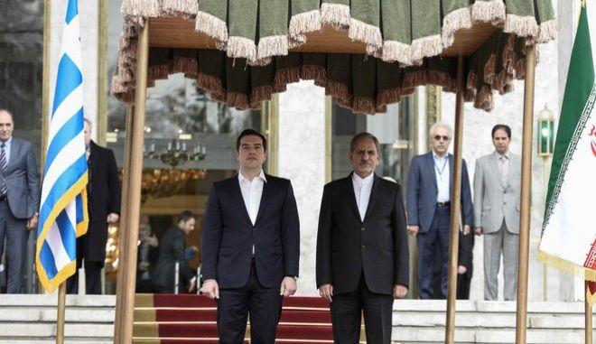 Επίσκεψη του πρωθυπουργού Αλέξη Τσίπρα στο Ιράν. (EUROKINISSI/ΓΡΑΦΕΙΟ ΤΥΠΟΥ ΠΡΩΘΥΠΟΥΡΓΟΥ/ANDREA BONETTI)
