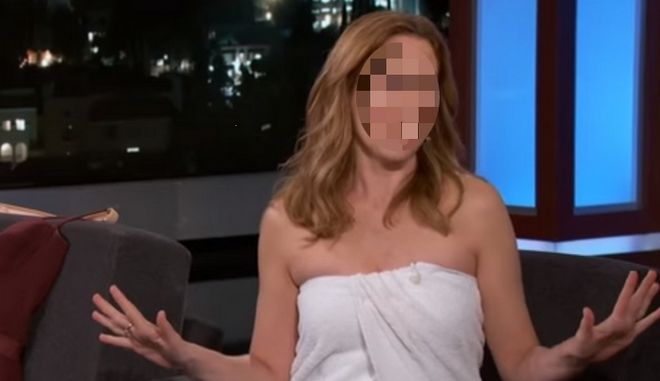 Ποια διάσημη ηθοποιός πήγε στον Τζίμι Κίμελ φορώντας μια πετσέτα μπάνιου;
