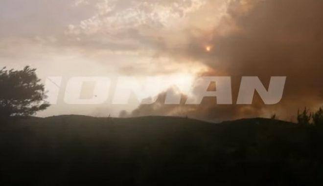 Ζάκυνθος: Μαίνεται η φωτιά - Ενίσχυση των πυροσβεστικών δυνάμεων