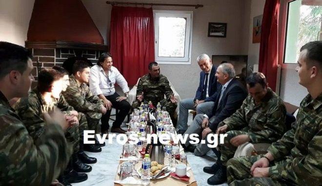 Ο πρώην πρωθυπουργός στα ελληνοτουρκικά σύνορα