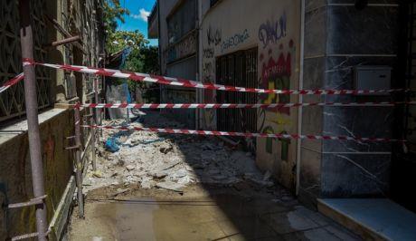 Φθορές προκλήθηκαν σε παλιά κτήρια της Αθήνας μετά τον σεισμό των 5,1R  της 19ης Ιουλίου