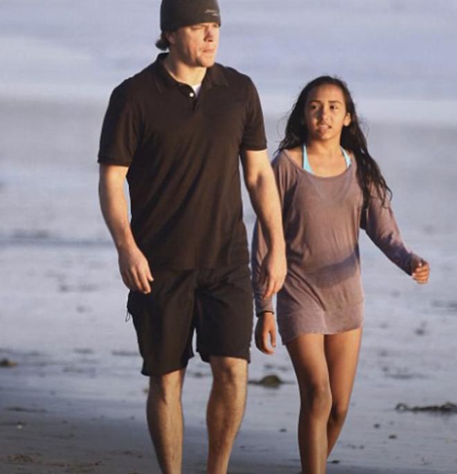 Ο Matt Damon με την κόρη του Alexia το 2017
