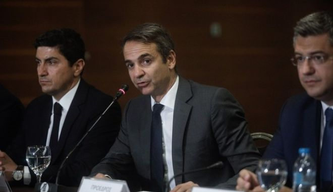 Meeting of the main opposition leader, Kyriakos Mitsotakis, with the production organizations of Thessaloniki and Northern Greece in view of his presence at the 82nd Thessaloniki International Fair, Thessaloniki, Greece on September 4, 2017. /      ,  ,                 82   , , 4  2017.