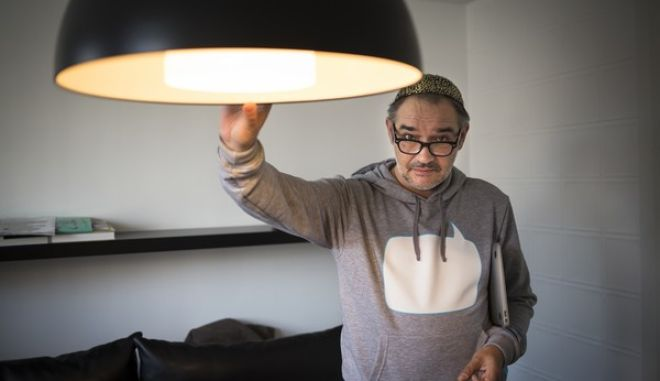In this photo taken on Tuesday, March  24, 2015? Anton Nossik, the famous blogger and civil activist, speaks to the Associated Press at his flat in Moscow, Russia. (AP Photo/Alexander Zemlianichenko)
