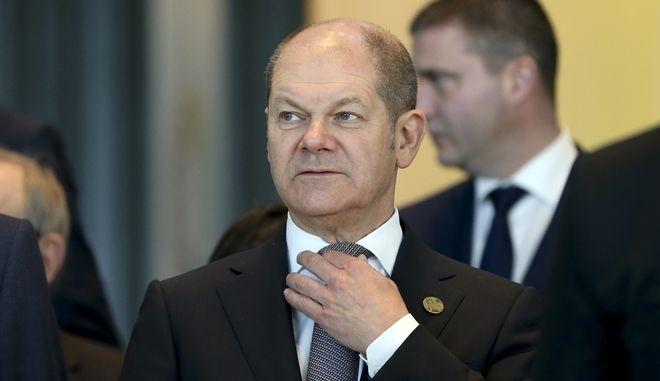 Ο γερμανός υπουργός Οικονομικών Όλαφ Σολτς