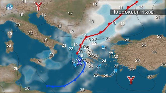 Καιρός: Μεταβολή από το βράδυ της Πέμπτης με βροχές και καταιγίδες