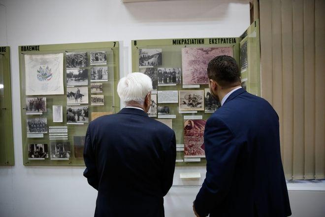 Στιγμιότυπα από την επίσκεψη του Προεδρου της Δημοκρατίας σςτο μουσείο ΕΑΤ-ΕΣΑ για την 43η επέτειο αποκατάστασης της Δημοκρατίας.Δευτέρα 24 Ιουλίου 2017.(EUROKINISSI / ΣΤΕΛΙΟΣ ΜΙΣΙΝΑΣ)