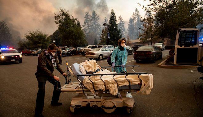 Εκκένωση νοσοκομείου στην Καλιφόρνια (φωτογραφία αρχείου)