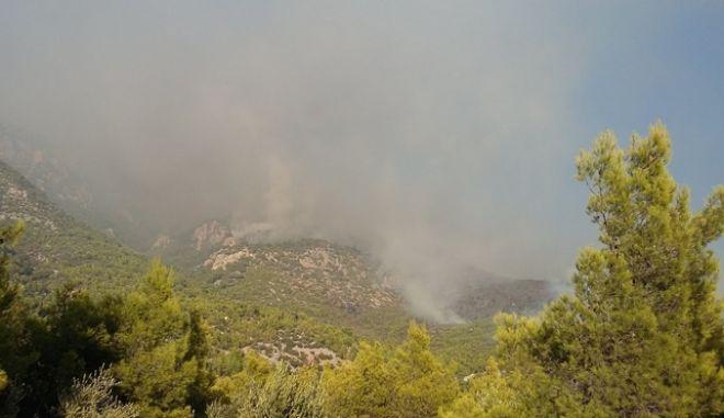 Φωτιά στο Λουτράκι: Μάχη με τις φλόγες - Εκκενώθηκαν μοναστήρια και γηροκομείο