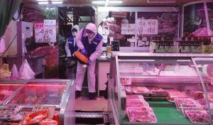 Άπολύμανση σε κατάστημα στη Σεούλ