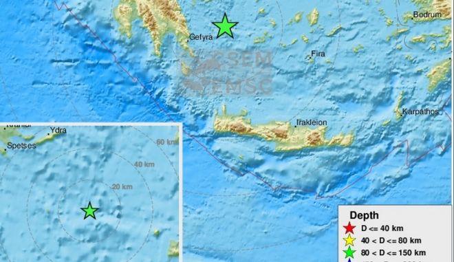 Σεισμός νότια της Ύδρας - Αισθητός στην Αττική