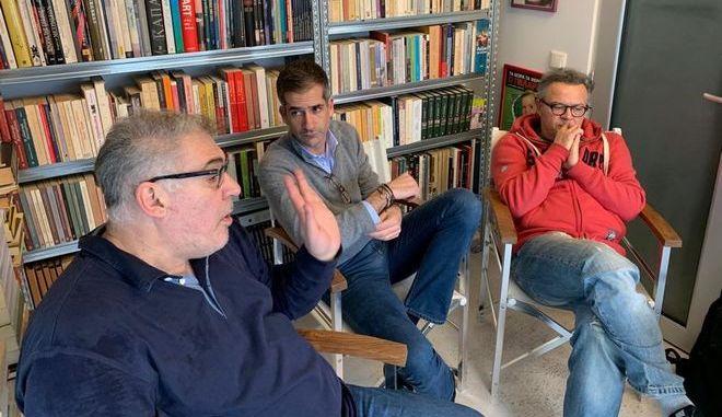 Ο Κ. Μπακογιάννης συζητά για την Αθήνα με το συγγραφικό δίδυμο Ρέππα - Παπαθανασίου