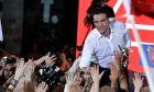 Στιγμιότυπο από προεκλογική συγκέντρωση του ΣΥΡΙΖΑ στο Σύνταγμα στις 5 Ιουλίου 2019