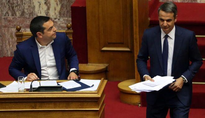 Ψήφος εμπιστοσύνης στη κυβέρνηση: Κόντρα Τσίπρα - Μητσοτάκη