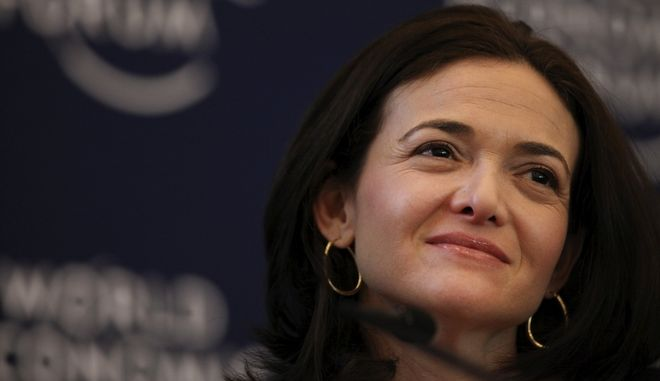 Sheryl Sandberg, chief operating officer of Facebook Inc., smiles during a session on day two of the World Economic Forum (WEF) in Davos, Switzerland, on Thursday, Jan. 26, 2012. The 42nd annual meeting of the World Economic Forum will be attended by about 2,600 political, business and financial leaders at the five-day conference. Photographer: Chris Ratcliffe/Bloomberg via Getty Images