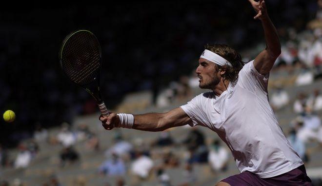 Ο Στέφανος Τσιτσιπάς στον τελικό του Roland Garros